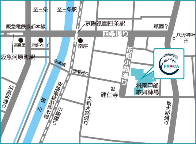 フォーエバー現代美術館の地図